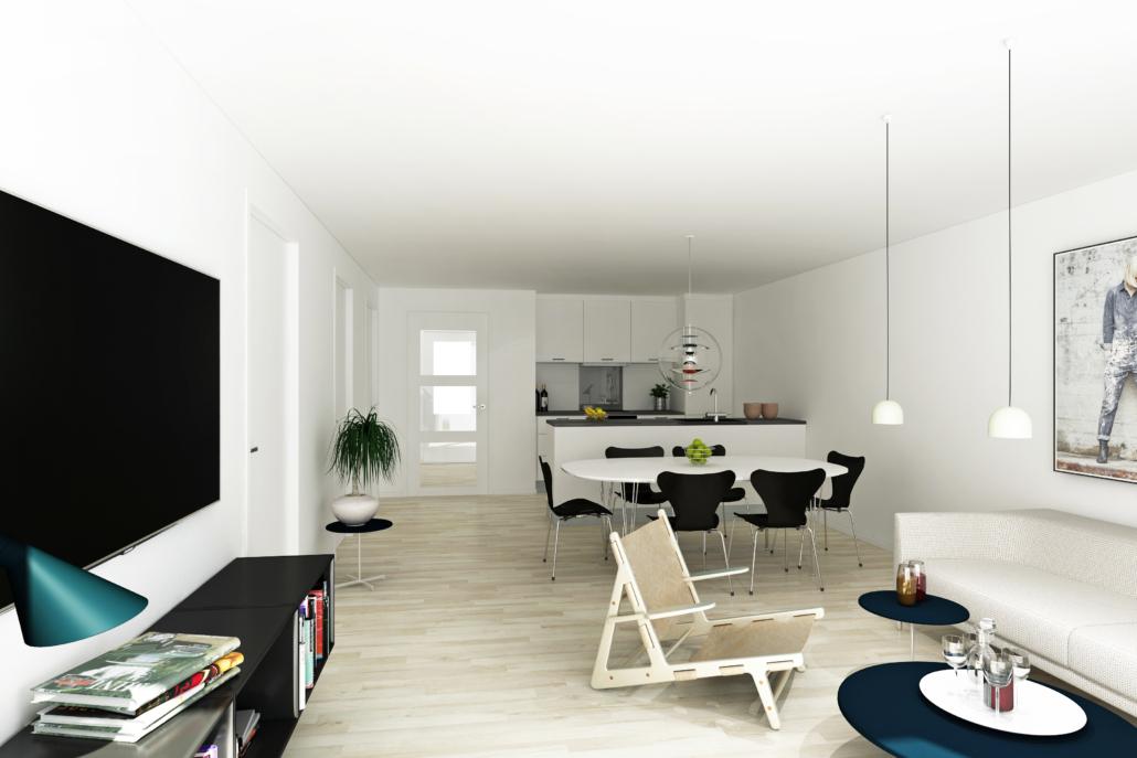 Boligtype 2 - køkken alrum stue
